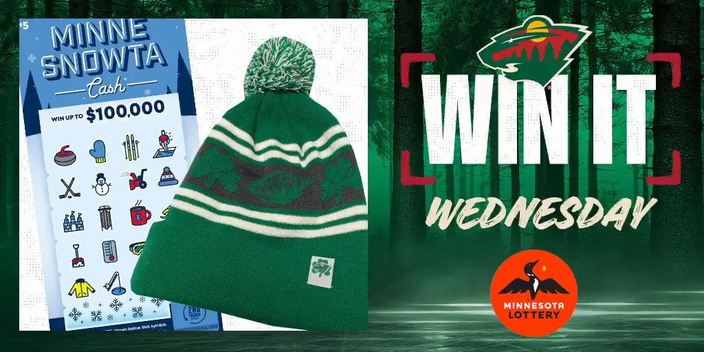 🍀 Say I'MN to #WinItWednesday. 🍀  RT for a chance to win a #mnwild stocking cap, $50 in @mnlottery scratch 🎟 and more!  Rules: