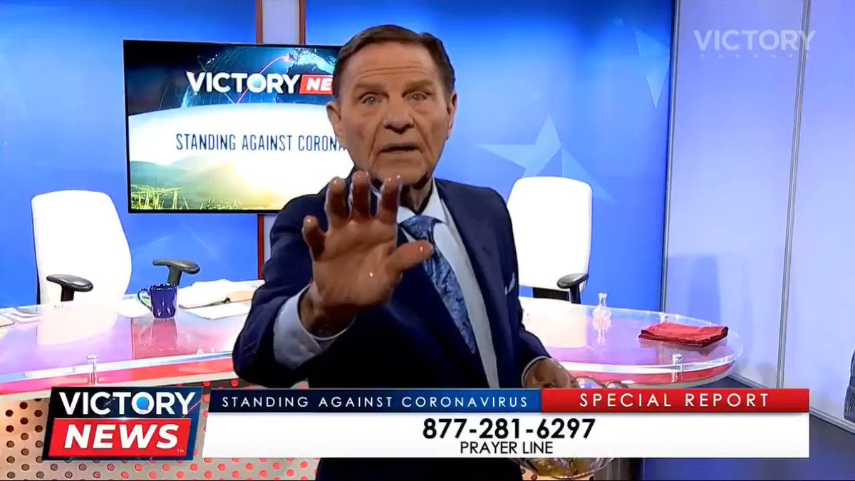 Kenneth Copeland healed viewers of the coronavirus through their televisions last night.