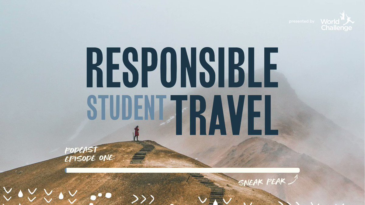 Image for the Tweet beginning: Responsible Student Travel Podcast - Here