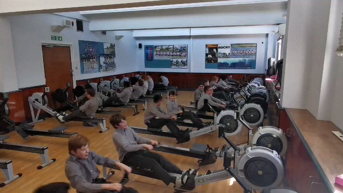 Image for the Tweet beginning: Our year 6 rowers pumping