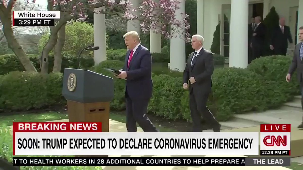a minutes worth of footage of trump and health-care execs fondling the same mic and touching each other. reassuring presser, overall!