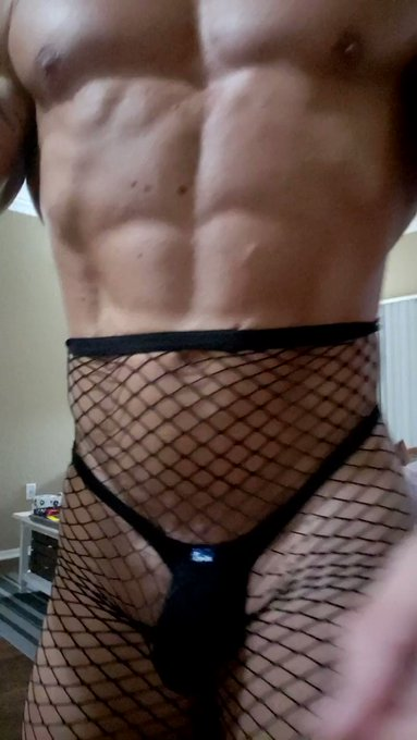 Something different... #fishnets over @iSwimFashion #u1008-Y1 .  My wife #whipped me in this outfit!