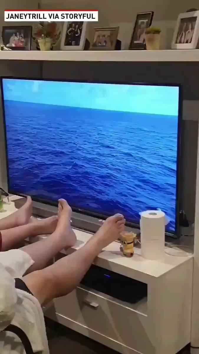 Couple decide to recreate their canceled cruise #coronavirus