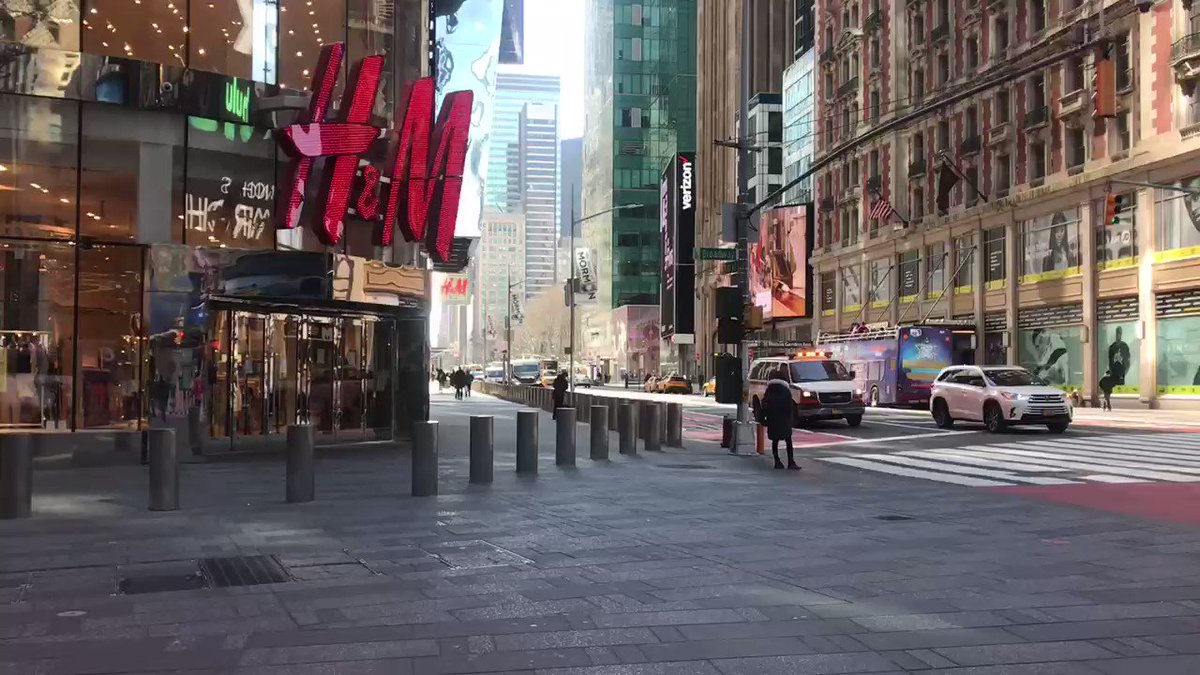 I've never seen Times Square so quiet at 10:30 am