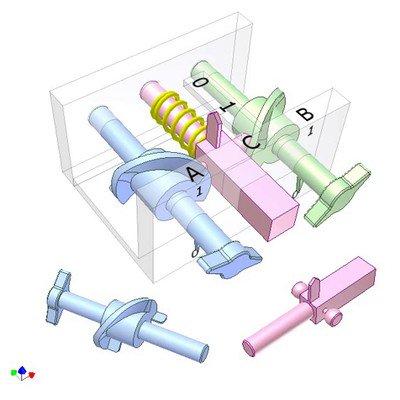 Mechanical NOR Logic Gate