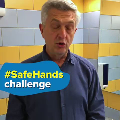 We can all help stop the #coronavirus spread and protect the most vulnerable. I am taking the ⁦@WHO⁩ #SafeHandsChallenge: thanks ⁦@DrTedros⁩ for nominating me.  I challenge ⁦@RedHourBen⁩, ⁦@unicefchief⁩ + #InstantNetworkSchools ambassador ⁦@MoSalah⁩!