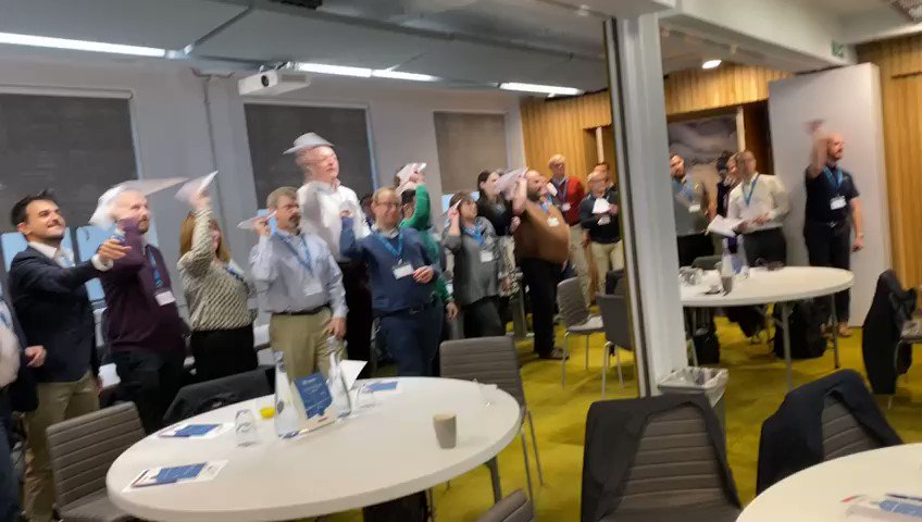 Throwback to our user conference the other week :-) We held a contest to see which of our customers could make the best paper airplane and they didn't disappoint... #avgeek #avmro #mrosoftware