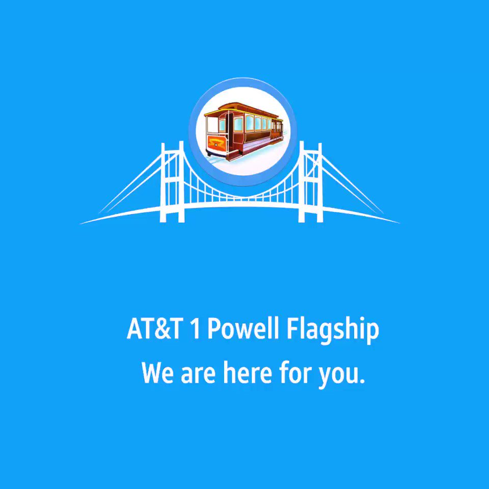 The @ATT1Powell Flagship is open to assist you with your communication needs.