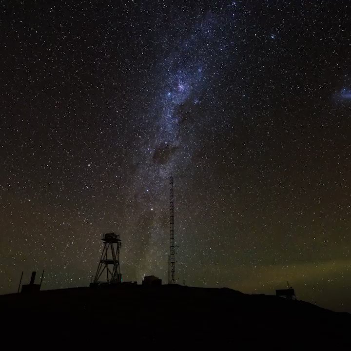 """""""For my part I know nothing with any certainty, but the sight of the stars makes me dream"""" – Vincent van Gogh  Milky Way over Cerro Armazones. Timelapse Credit: ESO/S. Brunier https://t.co/WrMPGnLVAZ"""
