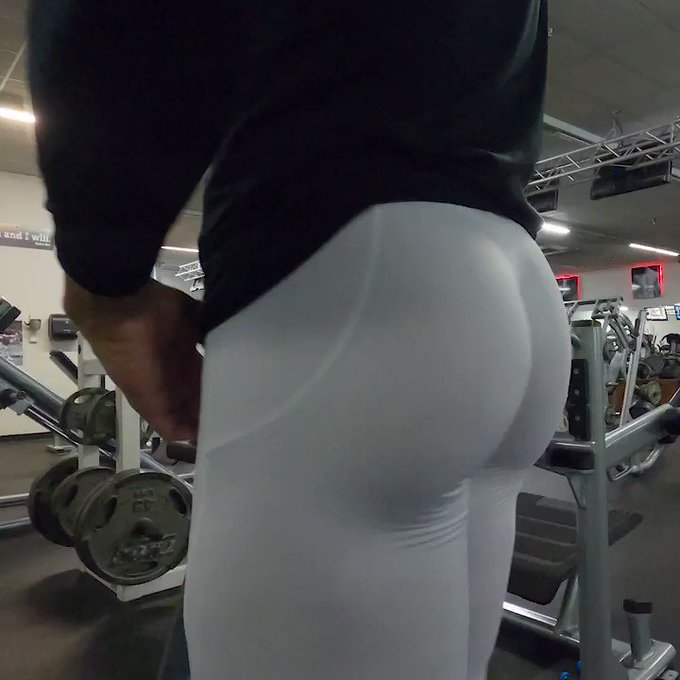 white leggings in observance of #humpday today at the gym. #HumpDayMotivation #spandex #mensleggings #mantights