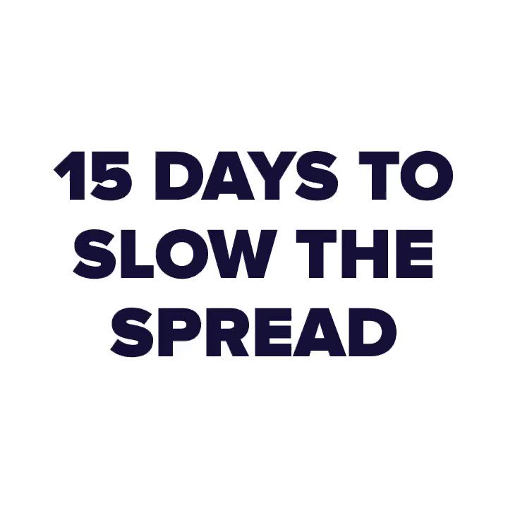 We are in the middle of 15 Days To Slow The Spread. Follow these guidelines to protect yourself and your loved ones.