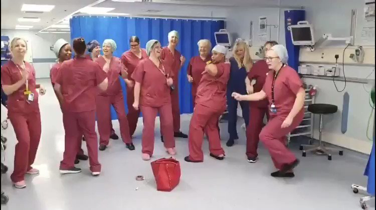 Image for the Tweet beginning: The spirit of NHS staff