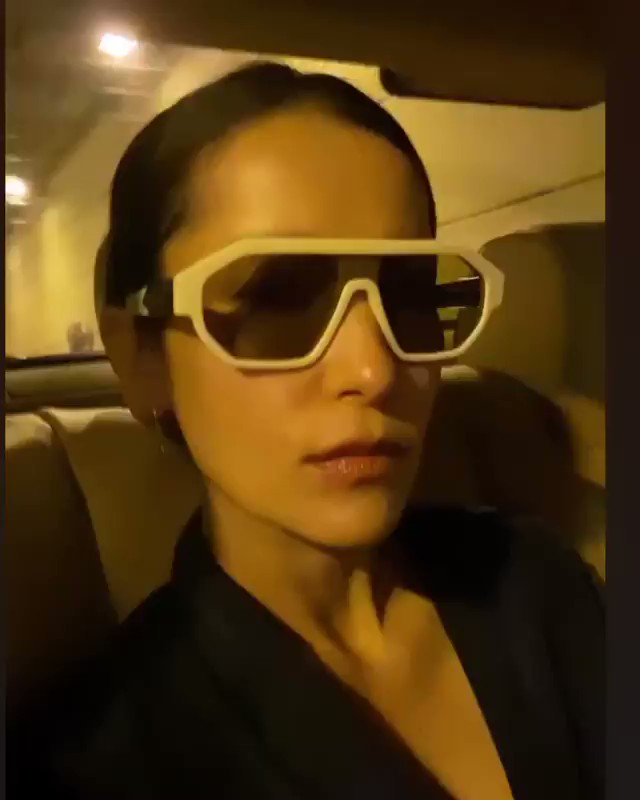 "#KarenWalker as worn • K. @annethong in ""Tribon"" sunglasses  Eyewear Distributed by @quad22_thailand  #sunglassses #eyewear #meneyewear #quad22 #quad22thailand #womeneyewear #KarenWalkerEyewear"