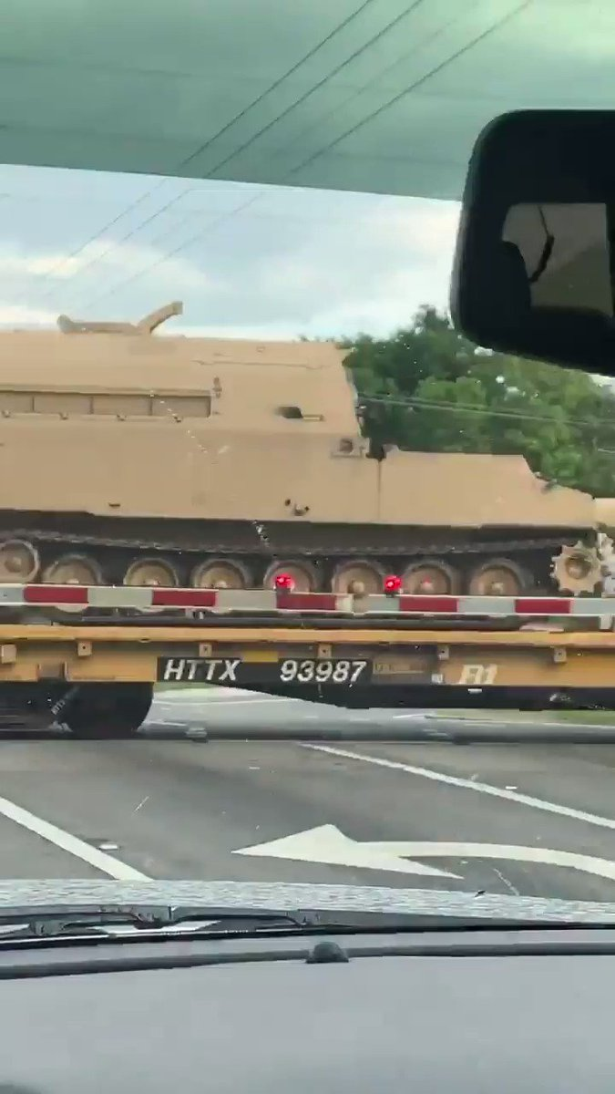 In the last couple days I've now seen tanks being transported in riverside, Irvine and Seal Beach.