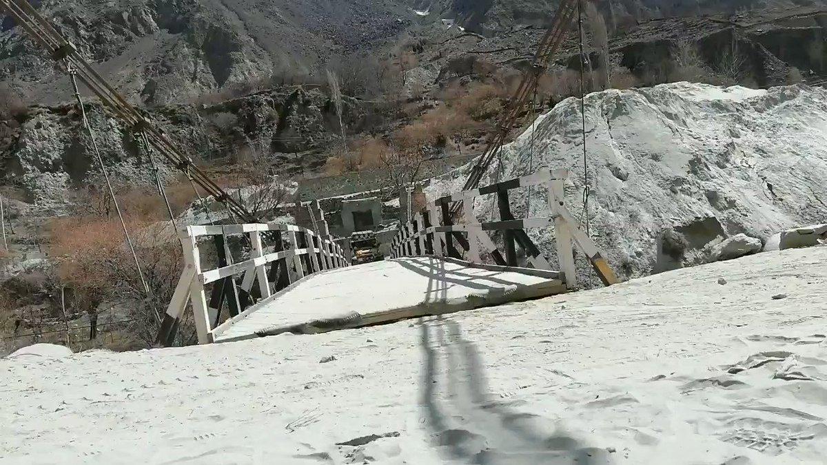 Devil's 😈 Love ♥️ #Toyota #BJ40 crossing 640 KG limit #wooden #hanging #bridge in #Bagrote Valley #Pakistan (19/03/2020)   Watch and subscribe our YouTube https://www.youtube.com/user/masaudgondal…   #travel #nature #offroad #4x4 #adventures #fj40 #tlc40 #borntoroam #onelifeliveit #karakoram