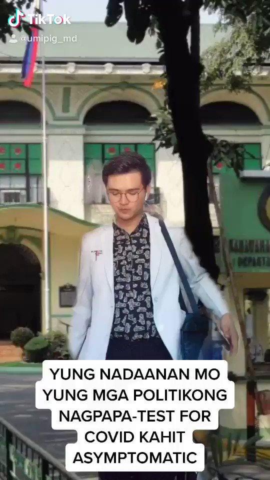 Yung nadaanan mo mga politikong nagpapatest for COVID-19 kahit asymptomatic...