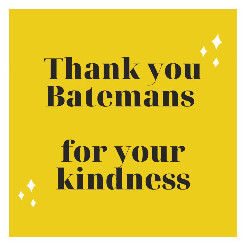Unfortunately, we've had to cancel our Gifts for the Future event due to current circumstances. @batemansbrewery have emailed us to say please don't worry about any costs incurred. Please can we have more businesses like this in the world ? #thankyou #grateful #kindness