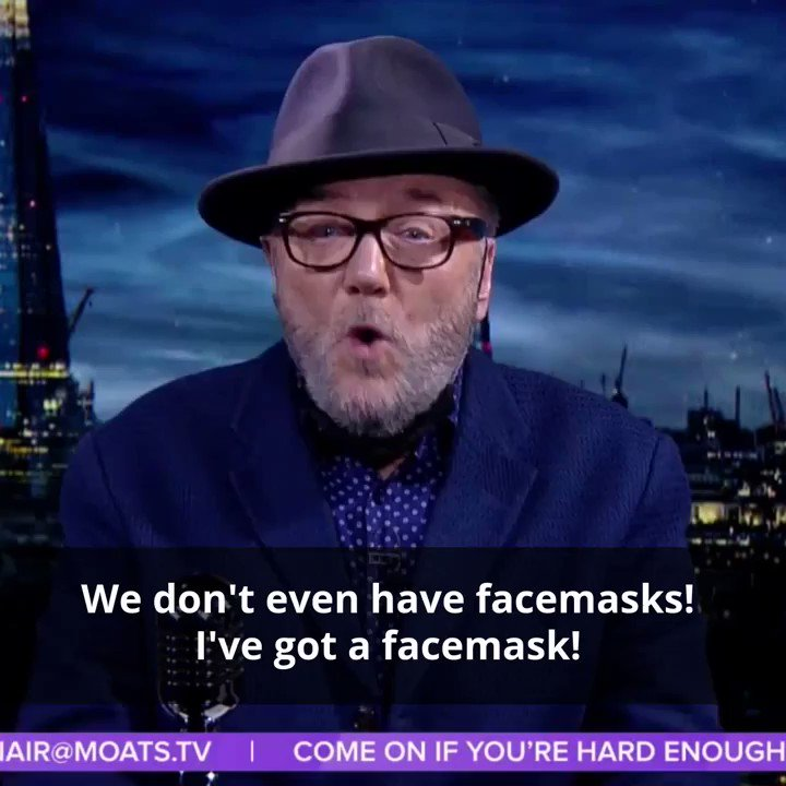 #LOCKDOWN  - YOU THINK IM EXAGGERATING?: We dont even have enough face masks!. This is deadly serious now. We cant cope in Britain! #MOATS   #COVID19  #CORONAVIRUS   https://buff.ly/33MtqrV    @georgegalloway  | @RTUKnews  | @RT_com  | @SputnikInt