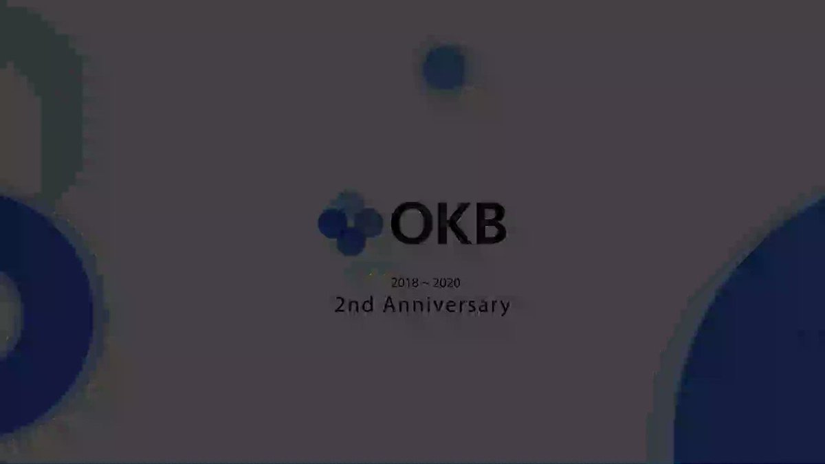 Image for the Tweet beginning: #OKBirthday 🎂: $OKB is turning