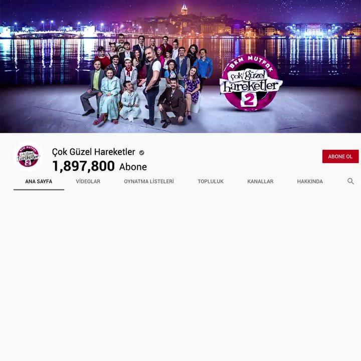 Bu kez ziller YouTube kanalımız için çalıyor! 🔔 Hep birlikte lobolobolop'ladığımız 2 milyon abonemize teşekkür ederiz! 💜 #ÇokGüzelHareketler2 https://t.co/2Cu2v7mjbg