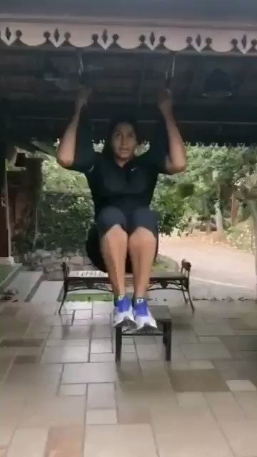How many people remember India's true superstar Anju Bobby George? She is India's first & only medalist in World Athletics Championship, long jump bronze medal in 2003 at Paris! Here @anjubobbygeorg1 is maintaining her fitness at home due to 21-Day lockdown. #IndiaFightsCoronapic.twitter.com/eoPs4fhsb2