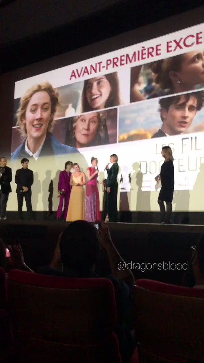 thinking about that time when saoirse ronan and greta gerwig told us how the casting of jo march went at the little women paris premierepic.twitter.com/DXxLuyKyXH