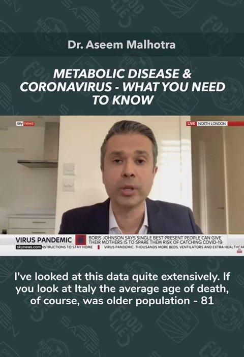 Image for the Tweet beginning: Corona virus and metabolic health