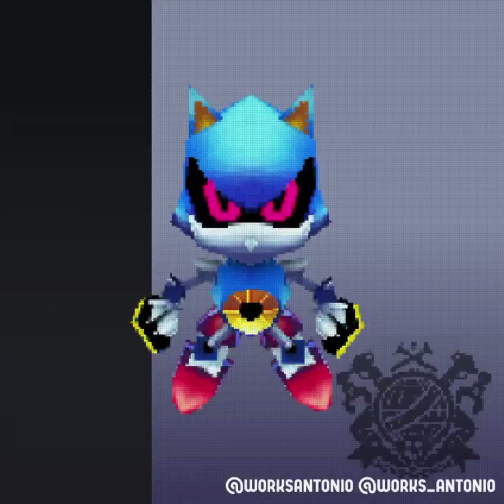 Finally! After a few weeks working on it it's finally here! My Metal Sonic Low Poly 3D model animated, hope you like it! -Antonio- #sonic #sonicthehedgehog #metalsonic #robot #blue #dreggman #lowpoly #3dmodeling #retrostyle #lowpolyart #blue pic.twitter.com/jlsxkFb0dQ
