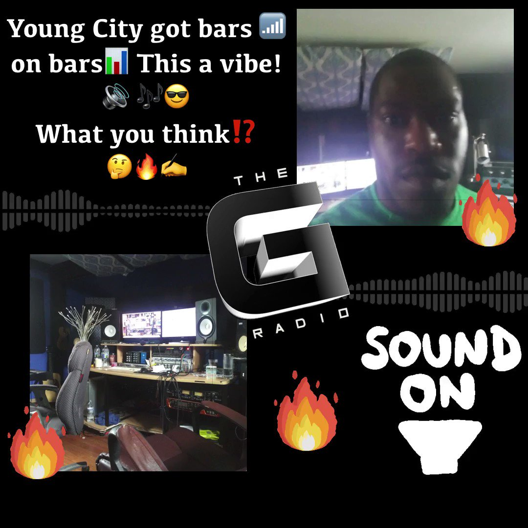 Tweet from THE G RADIO (@THEGRADIO) THE G RADIO (@THEGRADIO) Tweeted: @YoungCity33 got bars on barsThis a vibe! What you think!?   Track: Let It Out Artist: @YoungCity33  #HipHopJunkie #HipHopNation #NewMusicAlert pic.twitter.com/eK245xHFVs https://twitter.com/THEGRADIO/status/1243296938876903435?s=20…
