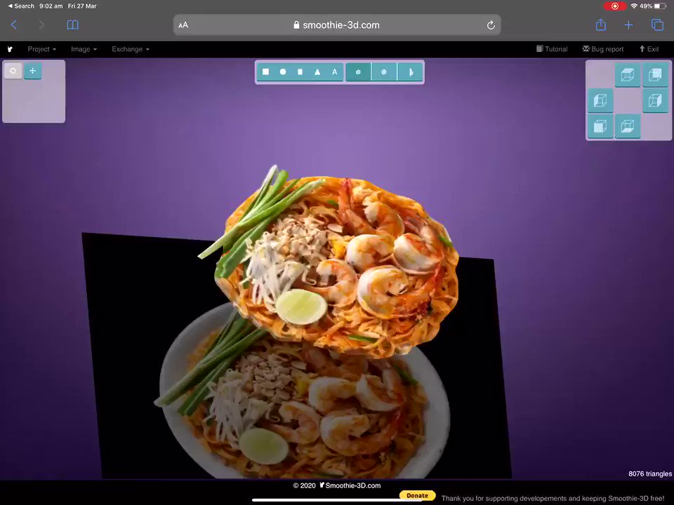 """If you're exclusively using an Ipad for education... and you want to create """"Original"""" interactive AR content for the Web """"For FREE""""   Your own photos -> Safari -> https://t.co/0R8abPsWRh -> USDZ files -> Reality Composer App -> https://t.co/nQnoAaV6Id (to share with the world)"""