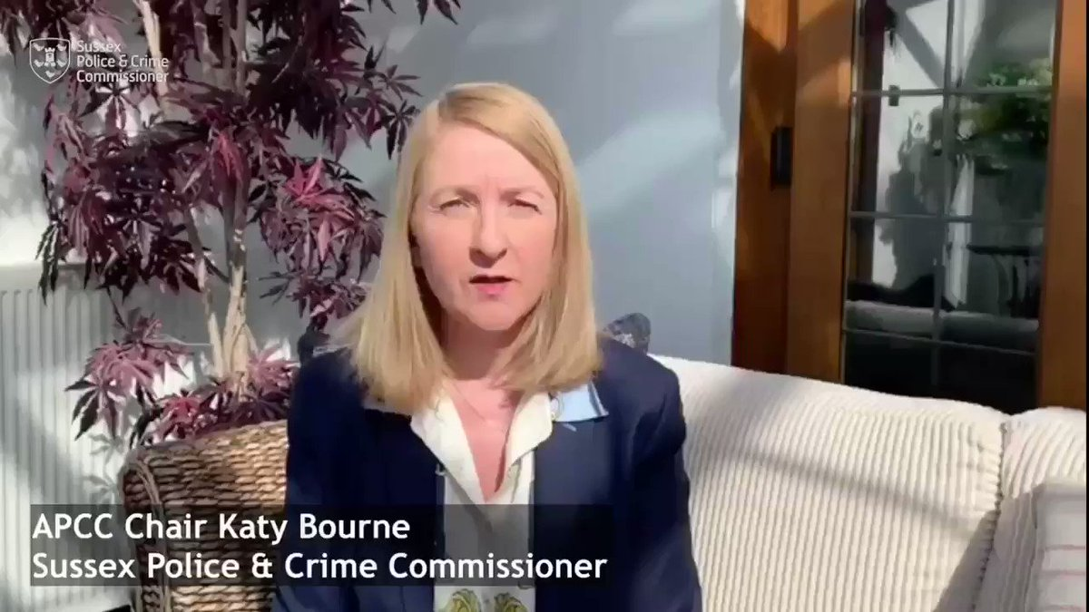 In her capacity as Chair of @AssocPCCs  @KatyBourne  has released a message on behalf of all PCCs thanking frontline workers & asking everyone to do their bit by staying at home during the Coronavirus crisis