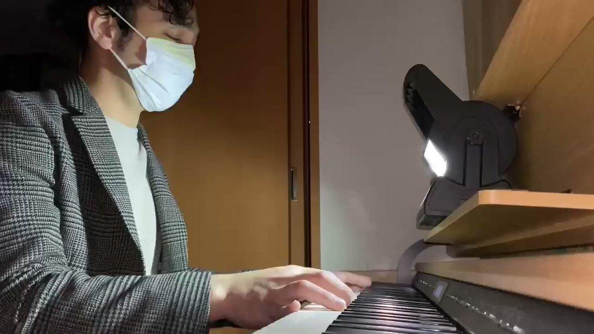 @yohsukechaw とりいそぎ英語ネイティブ 弾きオタニートの旦那に歌わせてみました。。。せつない#お肉券#LetsEatBeef