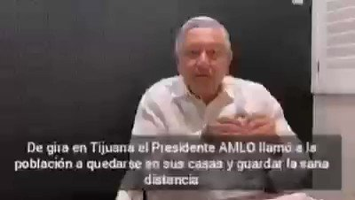 Image for the Tweet beginning: Desde #Tijuana el Presidente #Amlo