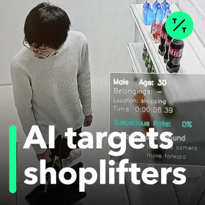 Image for the Tweet beginning: RT @Ronald_vanLoon: #AI Targets Shoplifters by