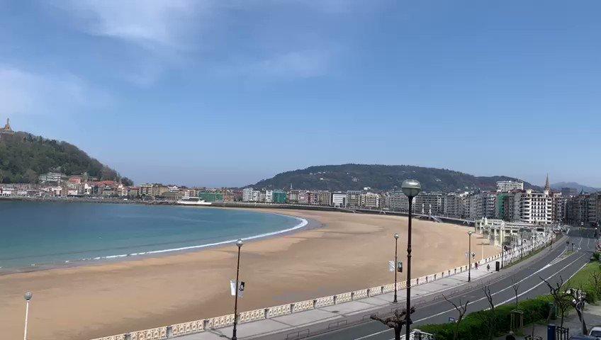 Así tenemos la #playa de la concha... #turismo #donostia #sansebastian