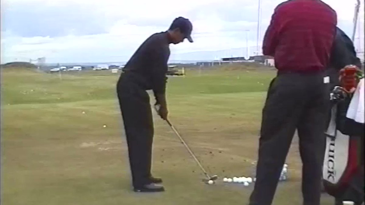 Rare footage of a @TigerWoods range session from 2000.