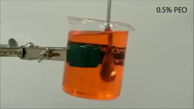 A demonstration of the open siphon effect or how a viscoelastic fluid can pour itself out bit.ly/2v1TReF