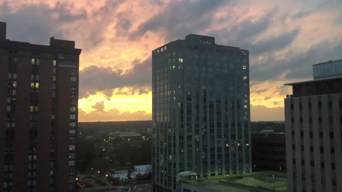 Stuck inside but still able to enjoy a beautiful sunset tonight in #Clayton