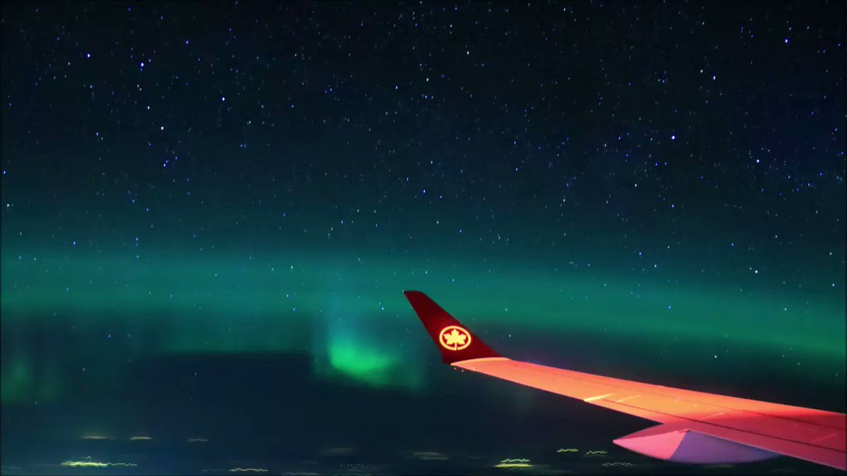 @JetPhotos Thanks for the post! Here's a timelapse from this flight, with satellites, meteors, & planes passing by. Took 200+ photos over a 2hr period (The wing is red because the beacon light flashes many times during the 15sec exposure, strongly illuminating the wing & winglet.)