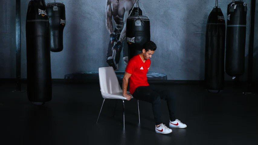 تمرين #فتنس_هوم اليومي اعمل 3 جولات من التمارين التالية: - تمرين دبس على الكرسي، 10 تكرار، والراحة لمدة 45 ثانية.  - تمرين بطن عكسي على الكرسي، 15 تكرار، والراحة لمدة 45 ثانية.  - تمرين صعود ونزول على الكرسي، 10/10 تكرار، والراحة لمدة 45 ثانية.  #بتمرن_بالبيت #فتنس_تايم