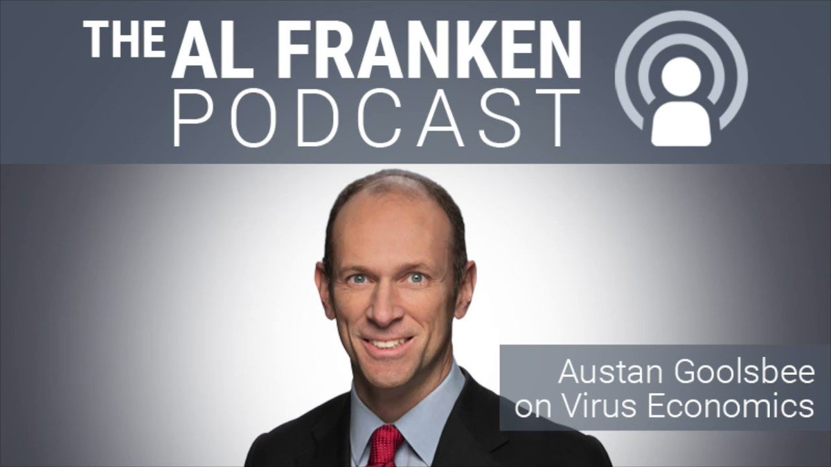 "This week on the Podcast, Obama admin. economist @Austan_Goolsbee discusses ""virus economics"" & the course of action a normal person (not Trump) would take.  #pandemic    iTunes:   Spotify:   Google Play:"