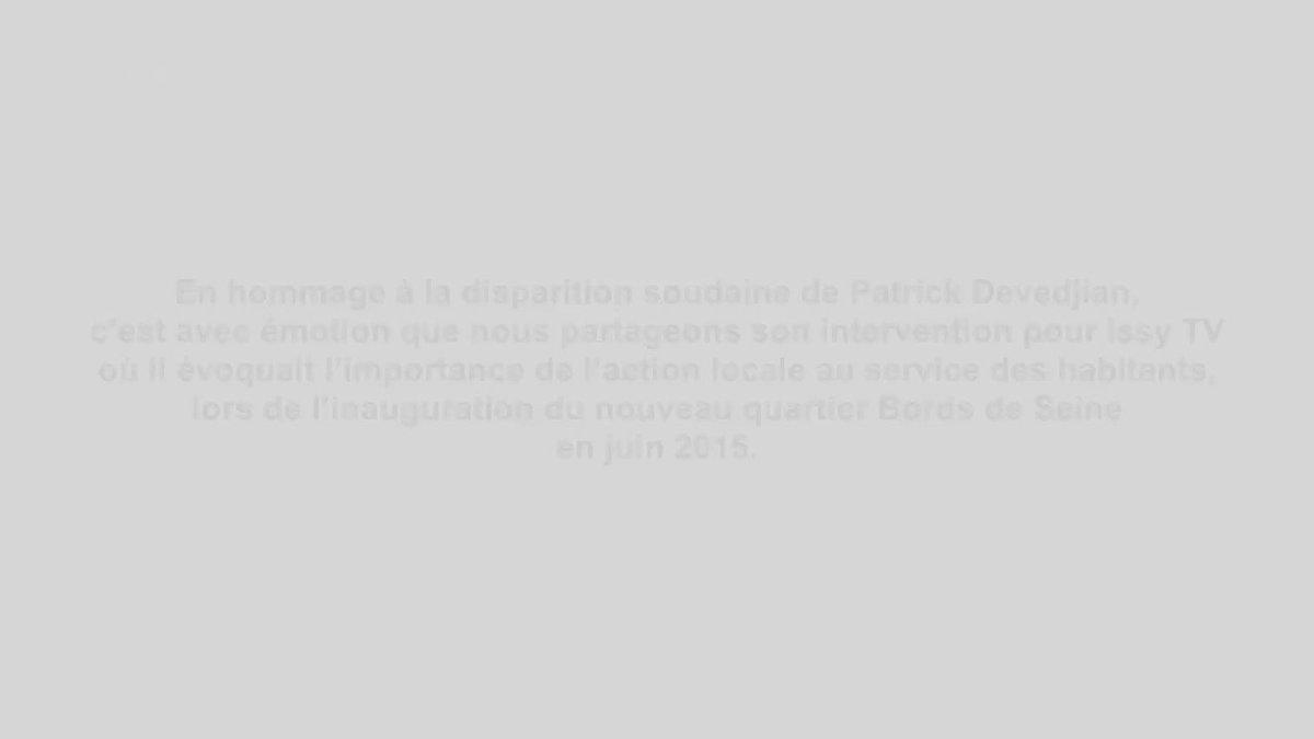 Image for the Tweet beginning: HOMMAGE ⚫️  Avec Patrick #Devedjian, le