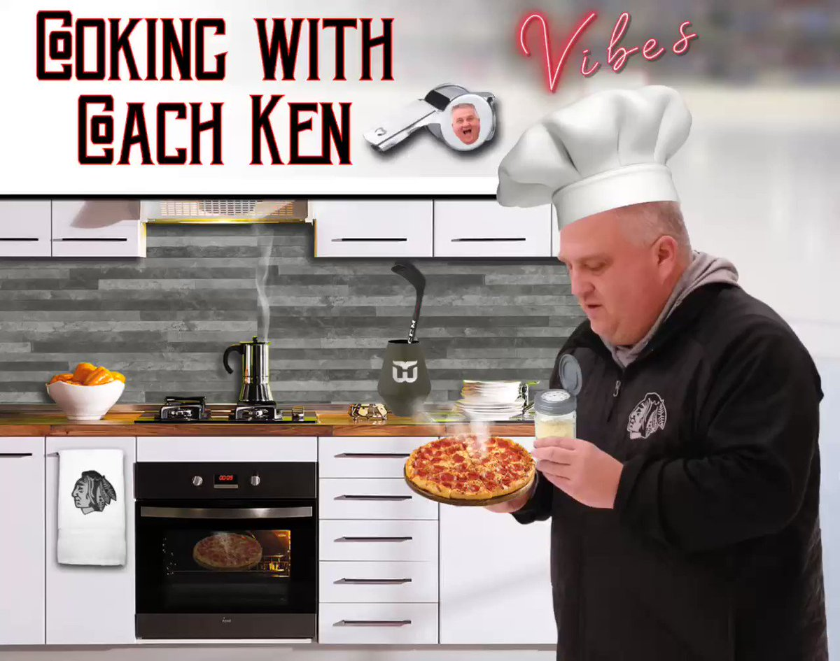 Is being stuck at home getting the best of everyone during these hard times? Need a way to feel some #GoodVibes? Well Coach Ken shows us how to turn that frown upside down  with mouth watering mini pizzas  for all! Watch out, they're hot!! I see you have some new accessories! pic.twitter.com/1ckUlN4jVz