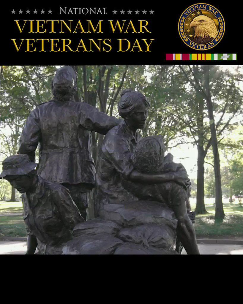 The Vietnam Women's Memorial sits just north of the Reflecting Pool and south of the Vietnam Veterans Memorial Wall. The memorial was dedicated in 1993 and portrays two women caring for a fallen soldier. On National Vietnam War Veterans Day, VA honors the brave women who served.