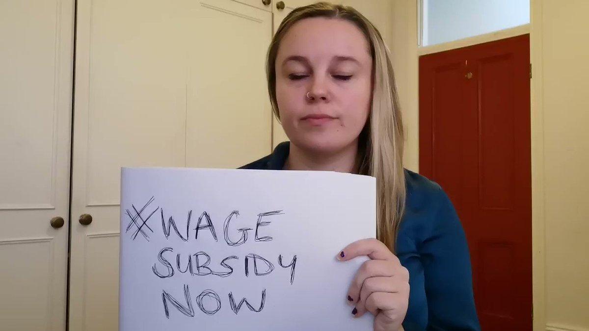 #wagesubsidynow Photo