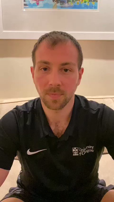 Join Calum at 12 noon on Monday 30 March for @Facebook LIVE! He's ready for you to answer any #fitness questions you may have! How can you be as #active as possible during #Covid_19 Calum can help! #QuaranTeamUofG #WorkoutFromHome #Wellbeing