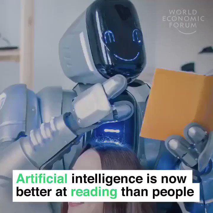Image for the Tweet beginning: #AI reads like a human,