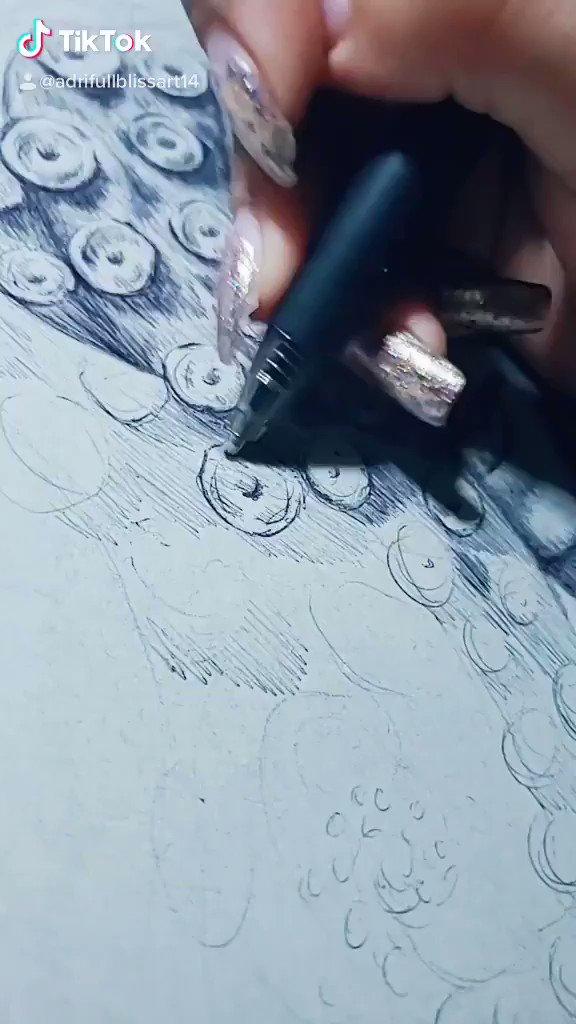 Octopus girl  #funny #pendrawing #pen #art #portrait #tiktoks #satisfyingpic.twitter.com/Vgb6RlGE0F