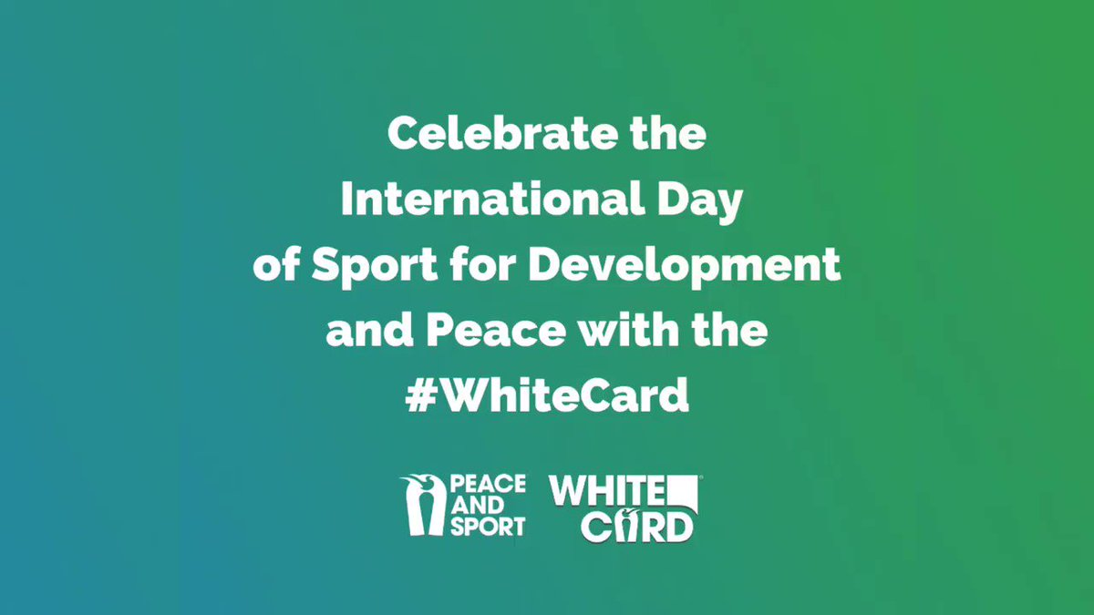 2020 #WhiteCard digital campaign is here! ⬜ Everyone can play a part in helping to forge global solidarity through sport, even from home. 📲 Until the International Day of Sport for Development and Peace #IDSDP2020 celebrated on April 6, Play your peace and raise your #WhiteCard