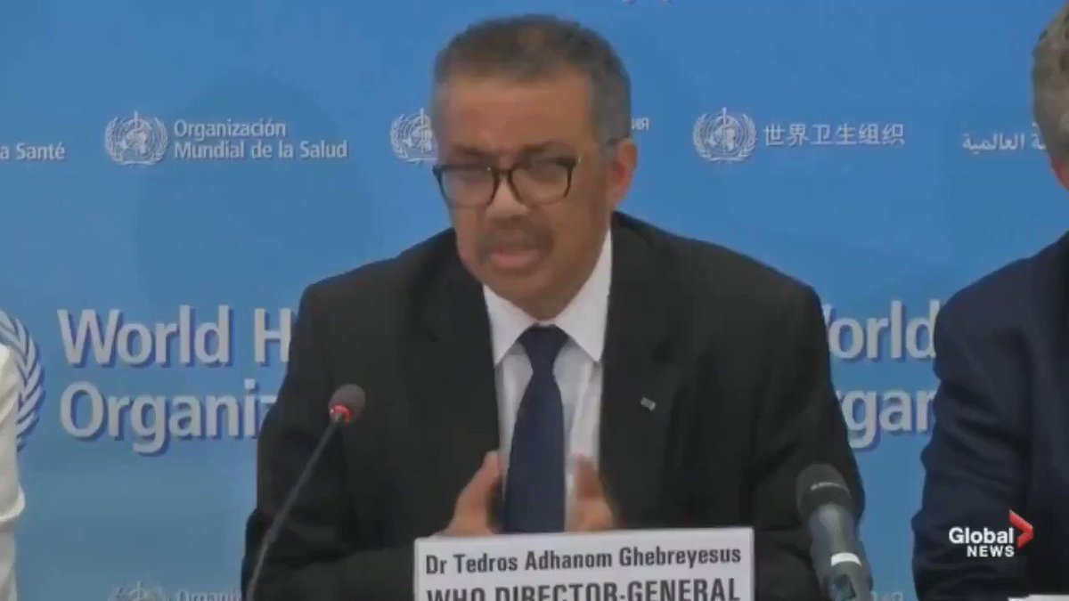 """⚠️WHO can't seem to get its own airborne info straight: @WHO says virus of #COVID19 doesn't seem to linger in air. Yet @DrTedros himself previously said himself """"Ebola is lousy... Corona is airborne"""". (See video of Tedros saying it). Many experts also agree it is airborne... 1/x https://t.co/YUAsccw5pL"""